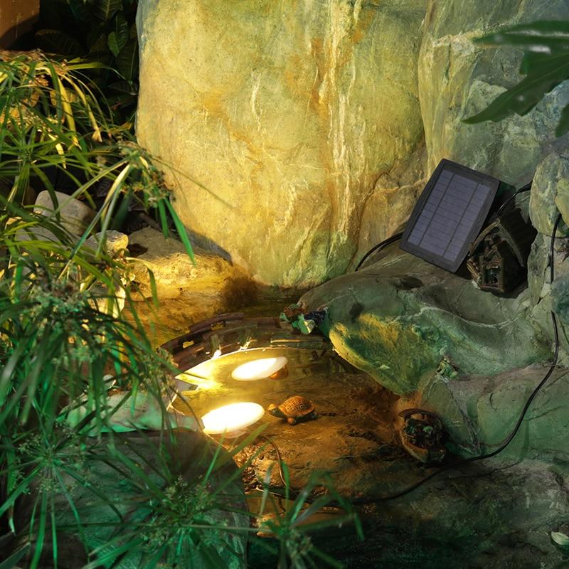 Solar Garden LED Lights Outdoor Buried Light Control Fish Pond Underwater Waterproof Swimming Pool Fish Tank Light Villa Lamp enlarge