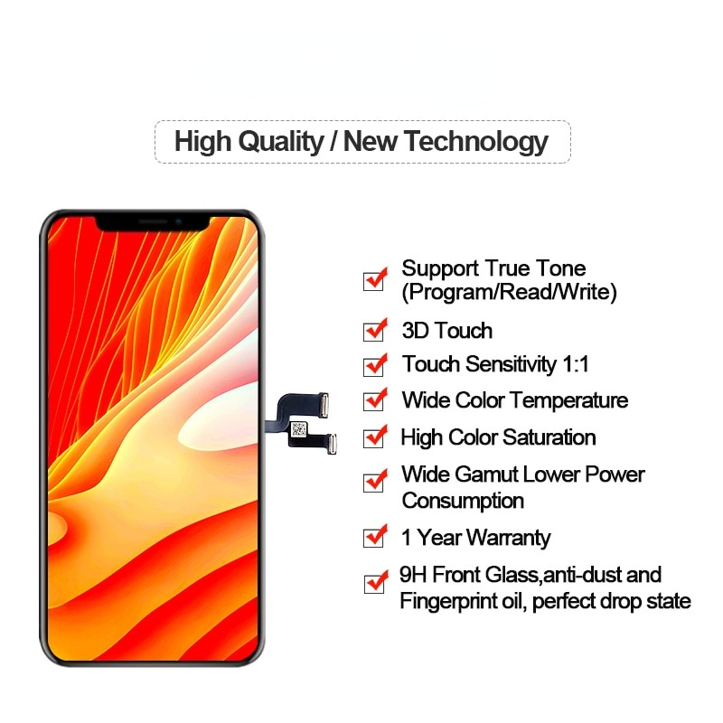 GX HE OLED For iPhone X XS XSMAX 11LCD Screen  Digitizer Assembly Replacement GX Soft For iPhone XS Display MAX 11 PRO OLED Best enlarge
