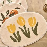 wonderlife flower bathroom door absorbent floor mat bathroom non slip mat toilet floor mat carpet household door mat
