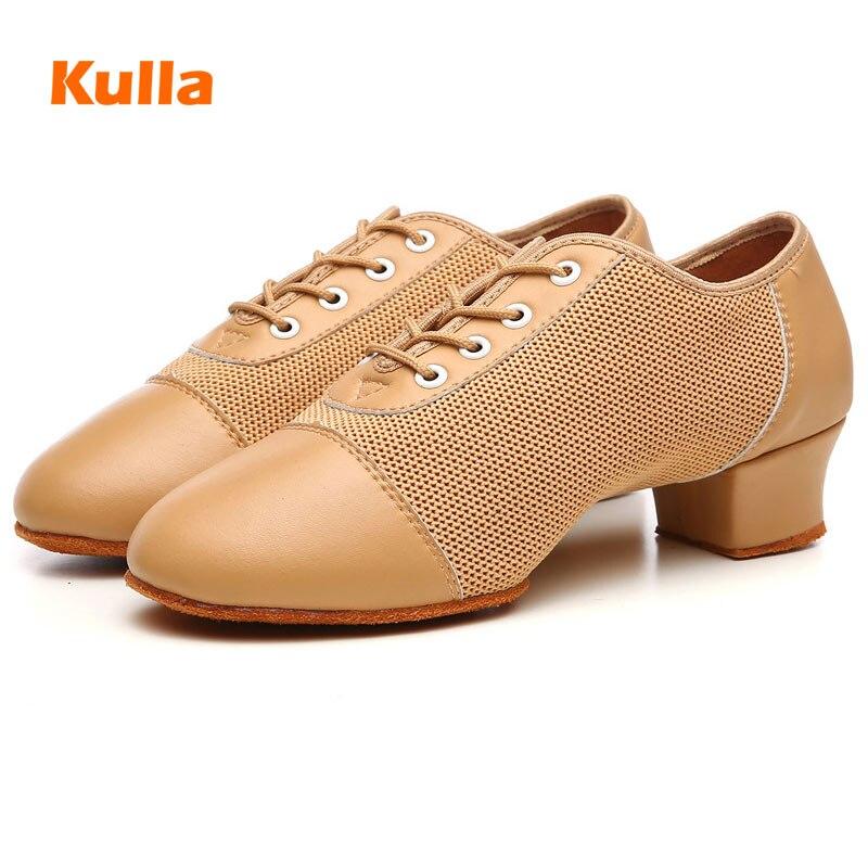 Latin Dance Shoes For Women Ballroom Tango Professional Dancing Shoes Soft Sole Yellow/Red/Black Teacher Practice Dance Shoes
