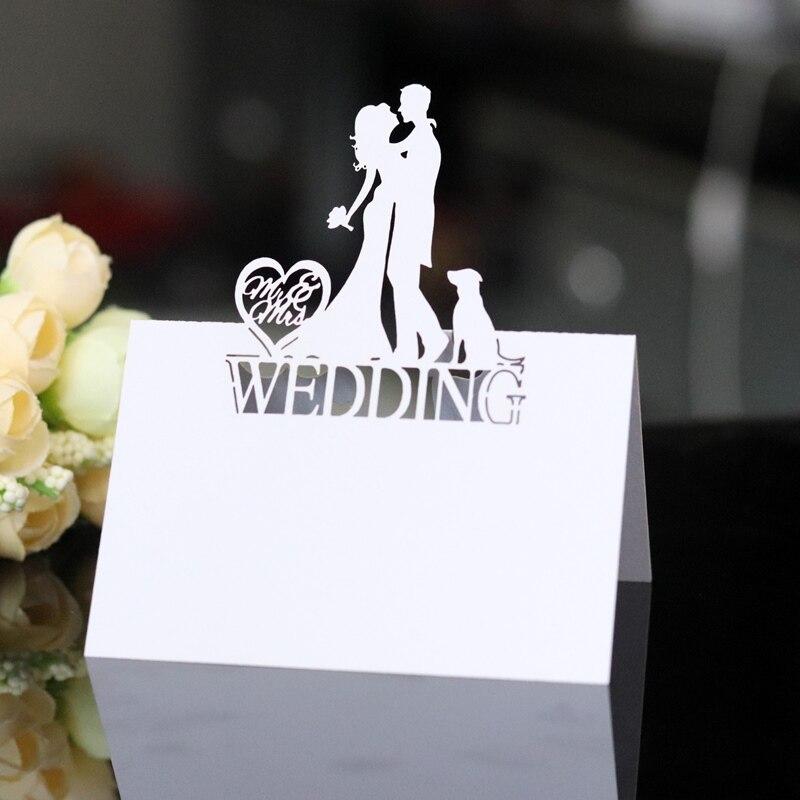 10 Uds boda asiento tarjeta de número de sitio Tarjeta De Nombre boda tarjetas de mesa para boda Banquete de San Valentín confesión Decoración