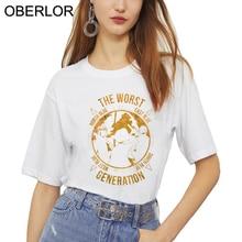 Une pièce la pire génération impression T-shirt femmes Harajuku Ullzang T-shirt 90s graphique coréen T-shirt haut tendance t-shirts