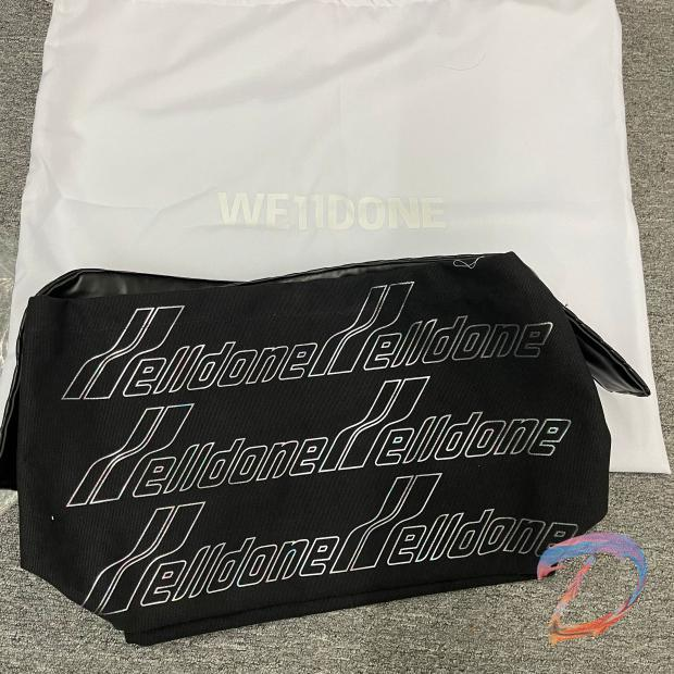 We11done рюкзак Для мужчин Для женщин Для мужчин письмо Цвет заграждение сумка с короткими ручками с логотипом We11done пара сумка рюкзак