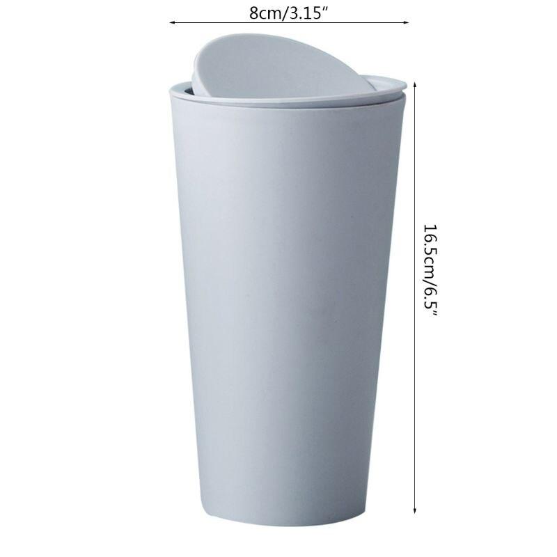 Mini pequeno lixo bin desktop lata de lixo reciclado mesa wastebasket carro dustbin escritório em casa quarto n58a