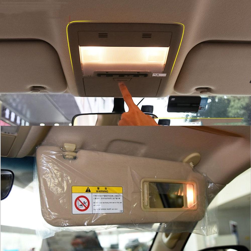 Car Accessories Interior Upgrade LED Sunshade Visor Make Up Mirror Reading Lamp Light For Toyota Land Cruiser 200 2008-2020