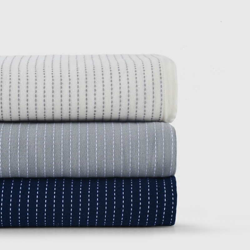 Toalla de algodón de estilo japonés de gasa acolchada, toalla de algodón a rayas, colcha de algodón suave, manta colcha LB70420