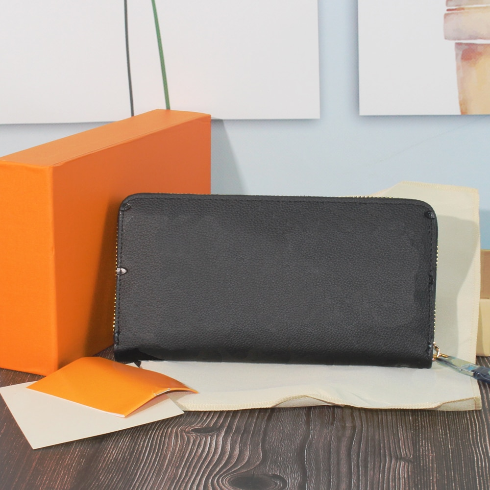 Luxury Women's Wallet Long Zipper High Quality Standard Wallet Split Leather Top Designer Coin Purse