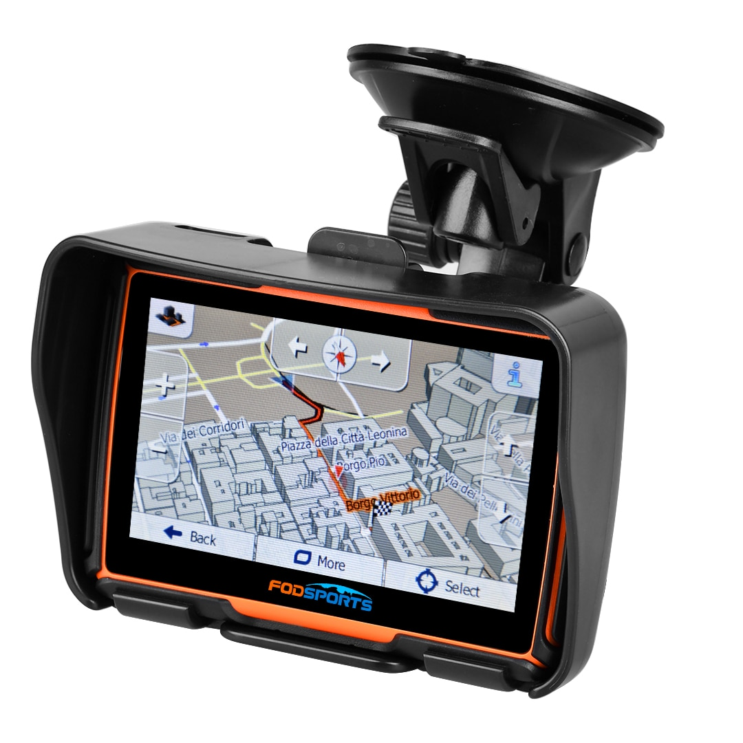 Fodsports 4.3 بوصة موتو لتحديد المواقع الملاح مقاوم للماء دراجة نارية بلوتوث لتحديد المواقع سيارة الملاحة خرائط مجانية