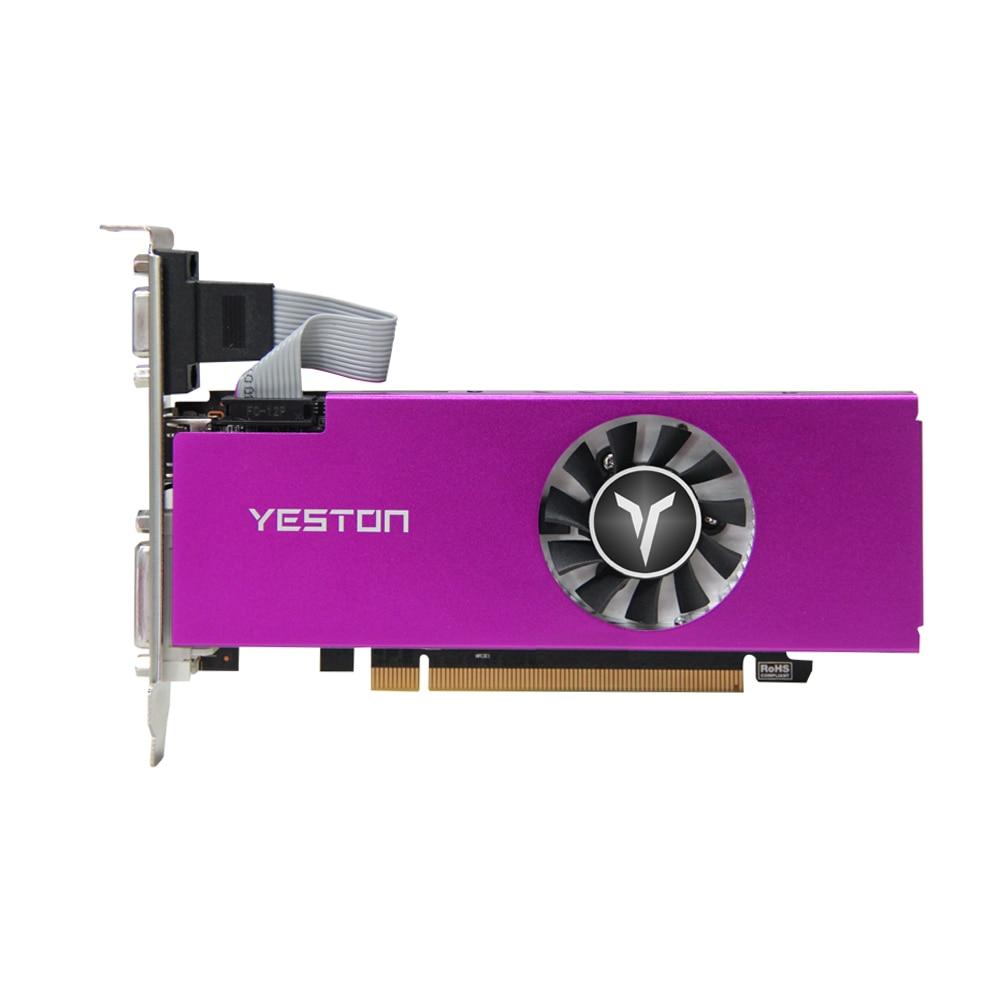Yeston Radeon RX 550 GPU 4GB GDDR5 128bit كمبيوتر مكتبي الألعاب بطاقات الرسومات الفيديو VGA/DVI-D/HDMI-متوافق PCI-E 3.0