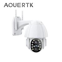 aouertk 1080p dual lens security camera outdoor speed dome ptz auto tracking wifi camera waterproof surveillance ip camera
