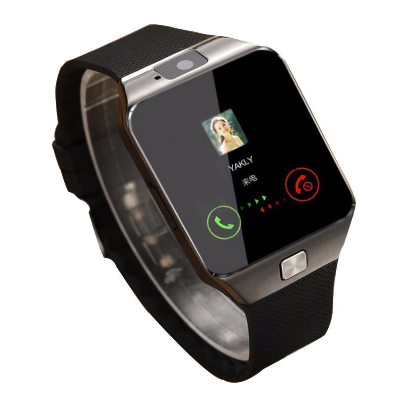 Reloj inteligente AIQIU DZ09 reloj inteligente Digital para hombres para Apple iPhone Samsung Android Teléfono móvil Bluetooth SIM TF cámara de tarjeta