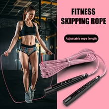 Fitness Wire Rope Skipping Rope Speed Jump Rope Cable for Aerobic Exercise Training Pink for Women S