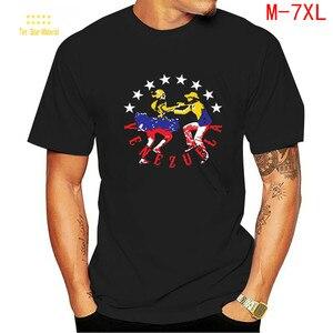 Venezuela T Shirt men Sunlight Spring Shirt Men's Oversized man plus Size T Shirt  Waist and Large Cotton Short Sleeve 100%