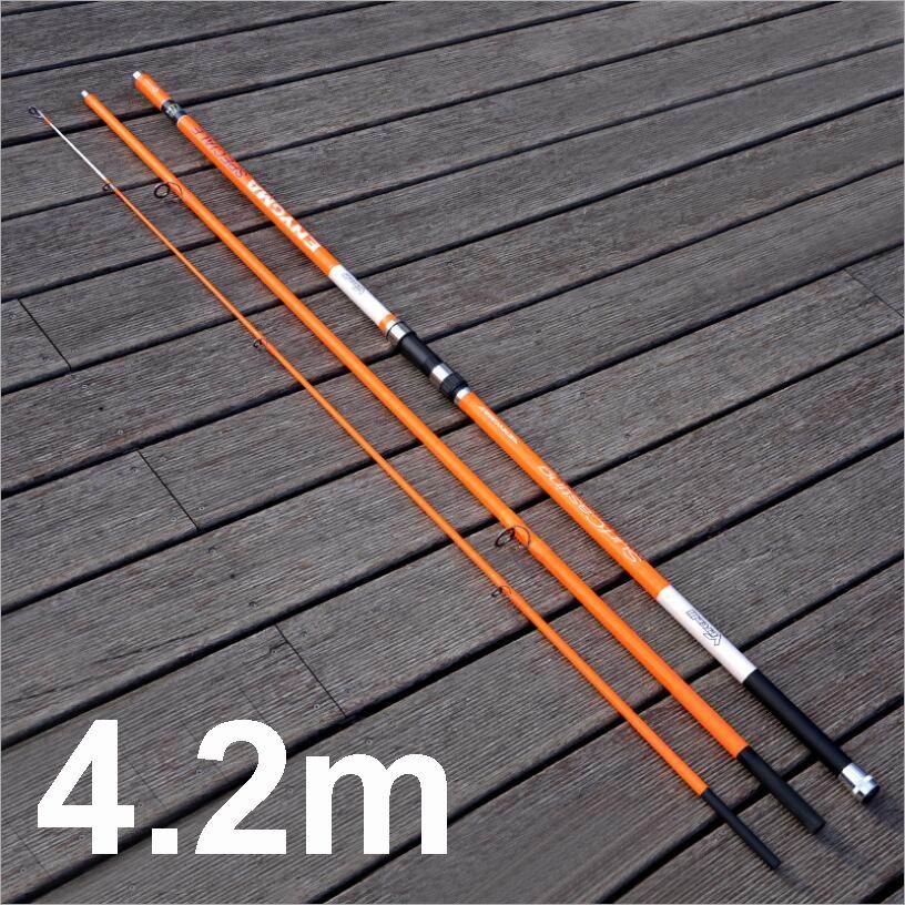 Vurselly CR anillos 4,2 M 576g de fibra de carbono SurfCasting de Surf de pesca de punta de la varilla-el Dia 3,6-22mm cebo 100-300g 148cm embalado