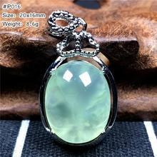 % 100% doğal yeşil prehnit kolye bayan Lady için adam şanslı kristal boncuklar su damlası taş hediye kolye kolye takı AAAAA