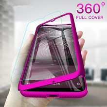 With Glass Film Phone Case For Huawei Mate 30 P20 P30 Pro 2019 P40 Lite E 20 X Screen Protection 360 Degree Shockproof PC Cover