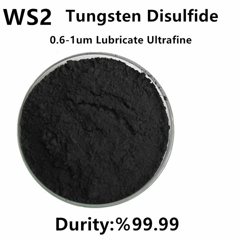 WS2 مسحوق التنغستن كبريتيد الصلبة تليين متناهية الصغر ارتفاع درجة الحرارة ارتداء المقاومة 0.6-1um