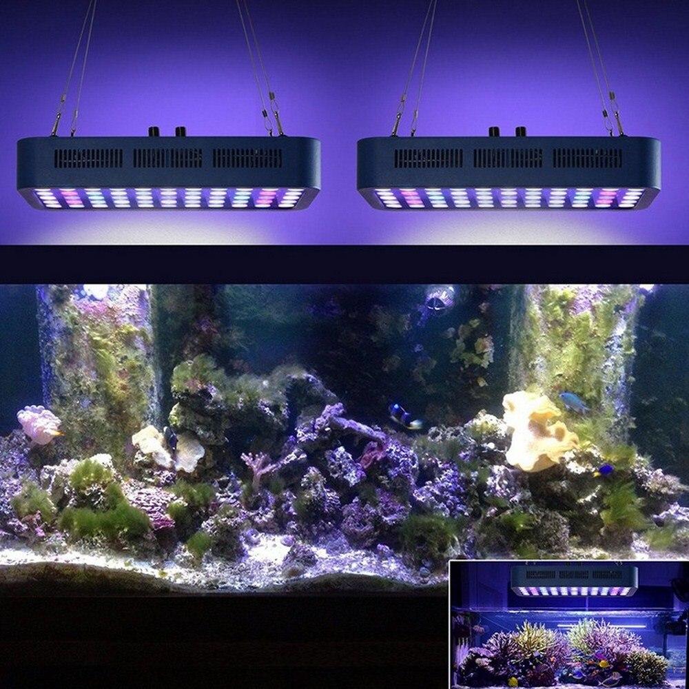 Luz de acuario LED 110V-240V, iluminación para crecimiento de plantas y peces, lámpara de espectro de cultivo de Coral, luces marinas para acuario