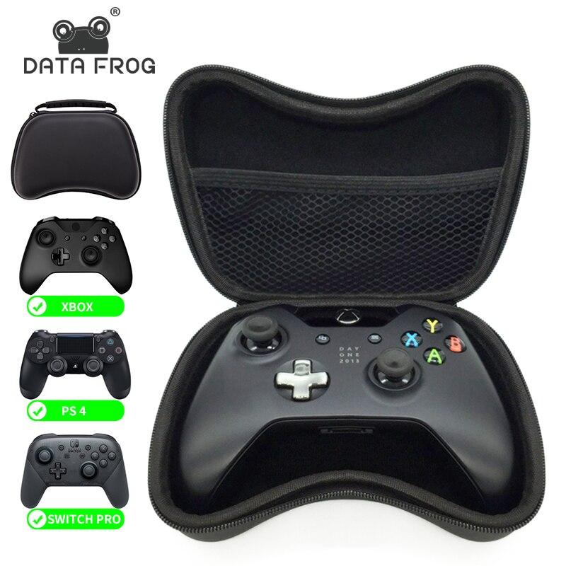 Жесткий чехол на молнии с ручкой для геймпада Data Frog EVA для Xbox One 360/PS4 Защитная сумка для хранения Nintendo Switch Pro / PS3 геймпад