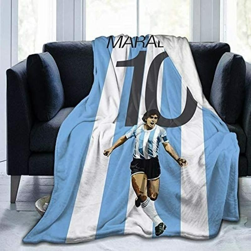 Armando Maradona فائقة لينة الصوف الصغير بطانية الفانيلا بطانية ناعمة ورقيقة خفيفة الوزن رمي بطانية تكييف الهواء بطانية.
