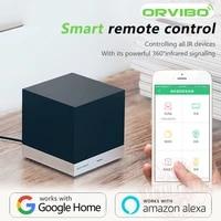 Alexa ve Google ev ses kontrolu Orvibo MagicCube XiaoFang WiFi IR uzaktan kumanda akilli ev otomasyon iOS Android