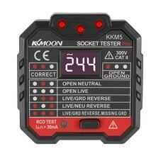 Digital Display Socket Detector Portable Circuit Polarity Voltage Tester Wall Plug Breaker Finder RCD Test