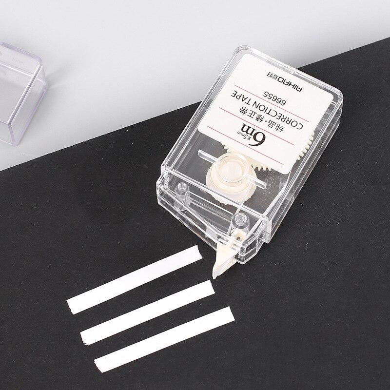6 m/unids 2019 nueva cinta correctora cambiar la palabra incorrecta escuela Oficina suministros creativos papelería volver a la escuela Mini rodillo