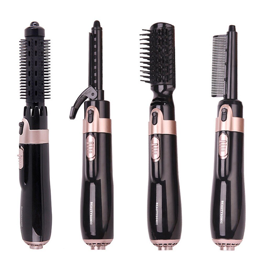 4 in 1 Hair Dryer Brush Electric Hair Straightener Curler Brush Negative Ion Hot Air Comb Hair Style