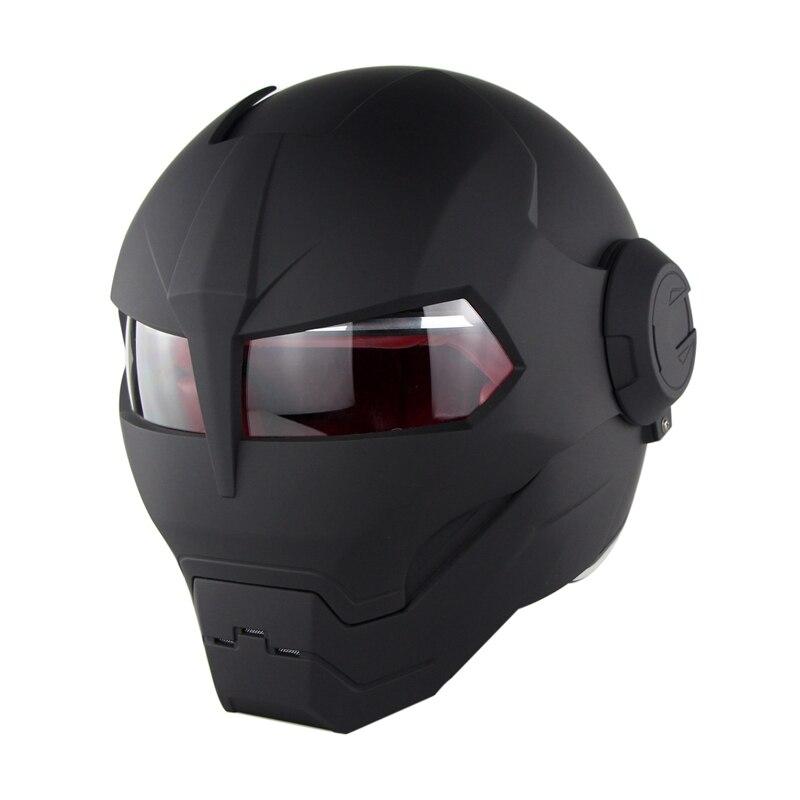 SOMAN 515 персонализированные Железный человек мотоциклетный шлем флип Verspa Ironman череп Capacetes Monster Casco DOT одобрение