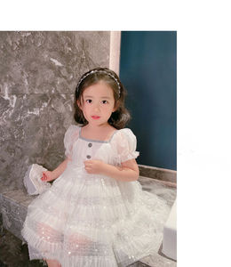 Baby Girl white Dress Birthday Dress Christening Gown Baby Party Dress christmas clothes girl baby birthday dress 2-6Y