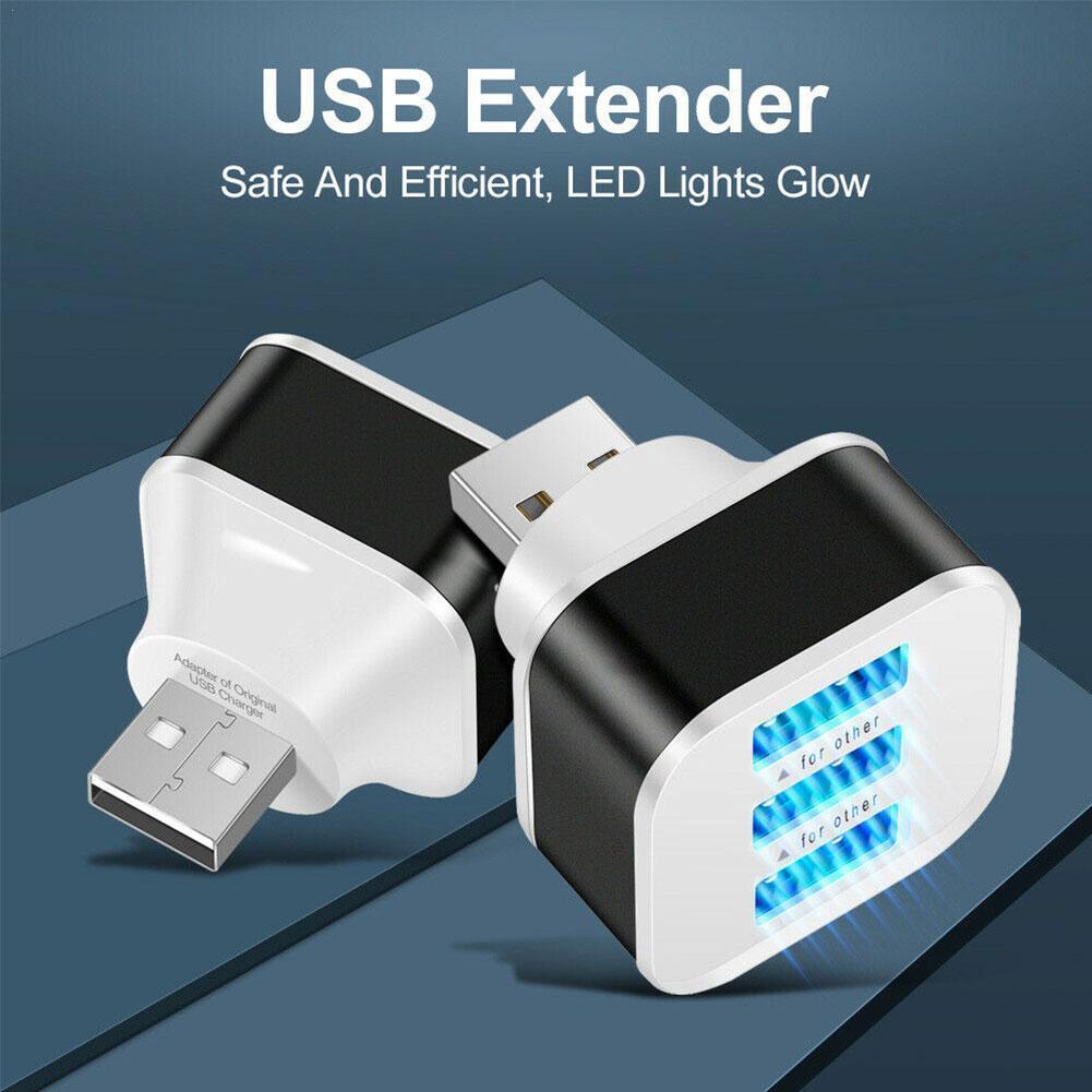 Extensor de alta velocidad con 3 puertos USB, divisor para el teléfono,...