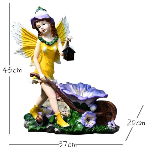 Avoir le statut des idées européennes sont belle fleur fée ornement résine fille ange personnages Sculpture couverture modèle