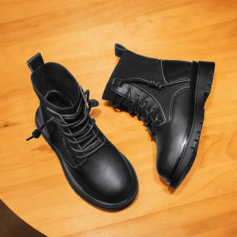 Children's Martin Boots Autumn Winter Fashion High Girl Outdoor Keep Warm Cotton Shoes Boys Anti Slip Boots Kids Shoes for Girl