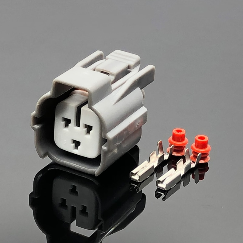 shhworldsea 1set 2pin female male turn light plug for lamp socket for car sensor connector for auto truck for peugeot 2 Sets Sumitomo 3 Pin Way Female Auto Car Connector Automotive Plug Camshaft Sensor Socket For Toyota 6189-0131