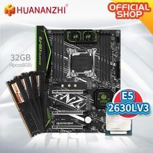 HUANANZHI X99 F8 X99 Motherboard mit Intel XEON E5 2630L v3 mit 4*8G DDR4 Nicht-ECC speicher combo kit set NVME SATA 3,0 USB 3,0