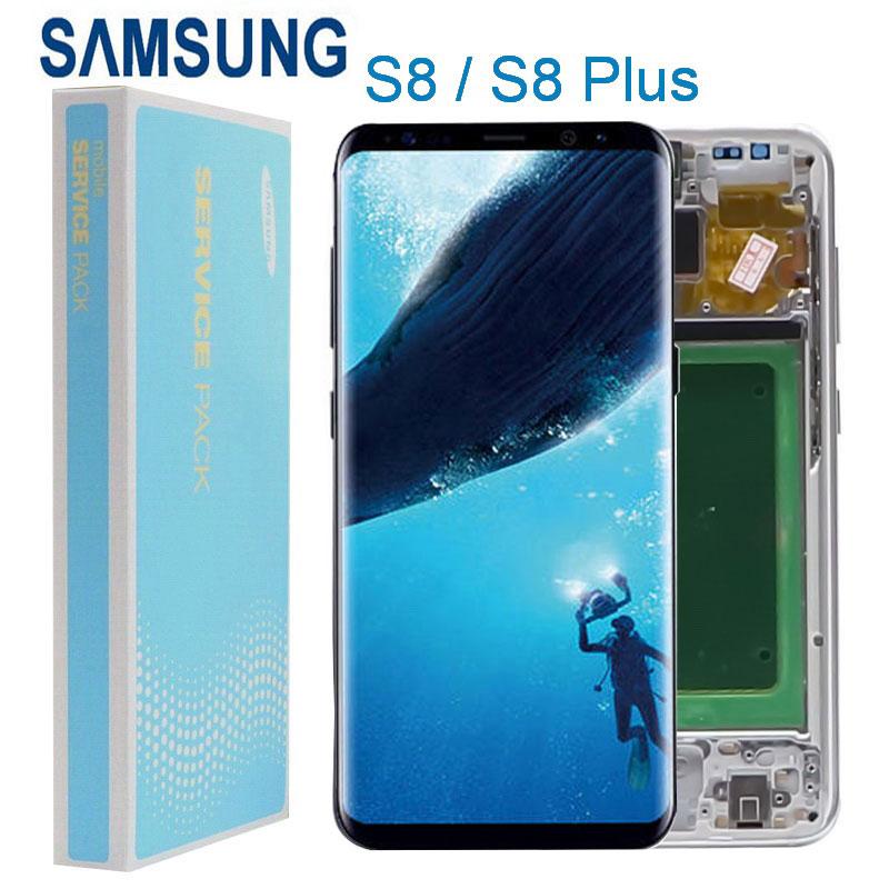 lcd original para samsung galaxy s8 s8 g950 g955 display touch screen digitador assembleia