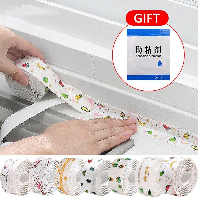 3.2m PVC étanche adhésif plâtre salle de bains cuisine douche étanche à leau moule preuve bande évier bande détanchéité bande auto-adhésif
