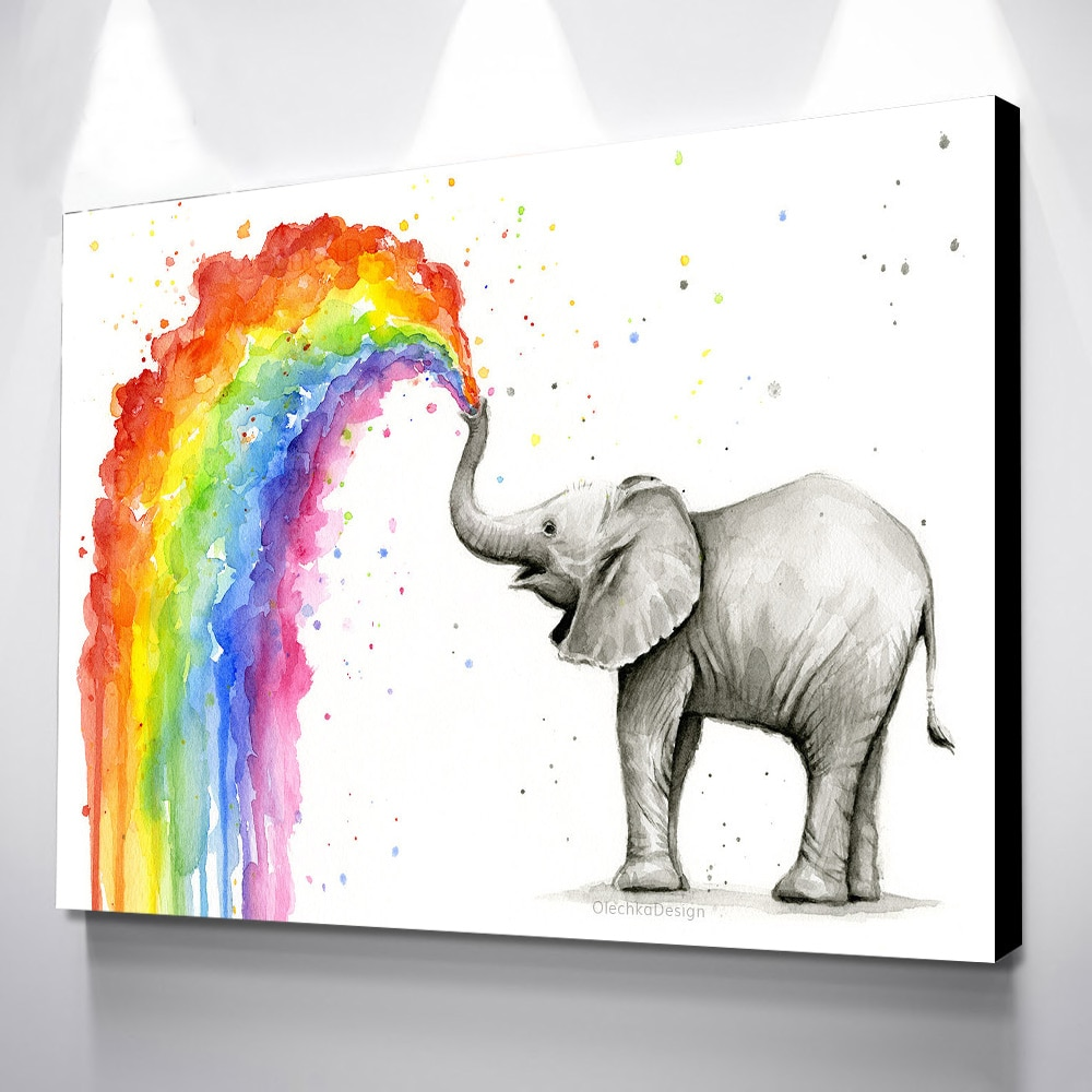 Pósteres de arte de pared cuadro lienzo elefante cuadro Mural cartel decorativo Arte Abstracto Animal impresión decoración Mural