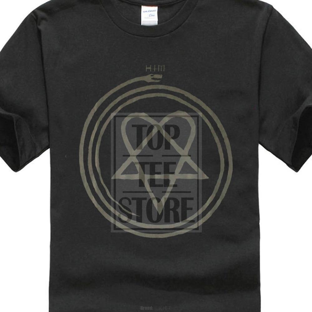 Funny T Shirts Cheap Crew Neck Him H.i.m. Tears On Tape Heartagram Mens Black Tshirt Ville Valo Mikko Lindstrom Classic