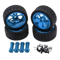 for wltoys 144001 a959 a949 a969 a959b rc car parts 65mm alloy wheel tire tyre with lengthened 12mm combiner