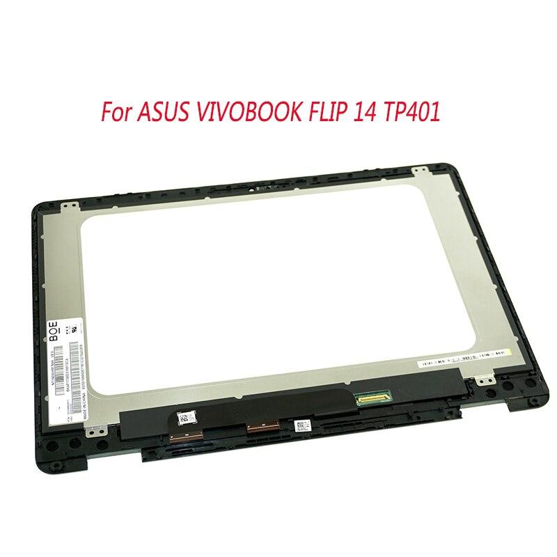 14 بوصة ل ASUS VIVOBOOK الوجه 14 TP401 TP401C TP401N lcd مصفوفة اللمس محول الأرقام الجمعية NV140FHM-N62 NT140WHM-N44