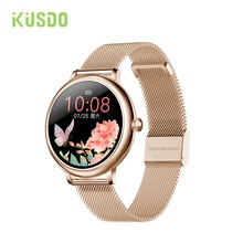 KUSDO 2021 NEW Fashion Women's Smart Watch Luxurious Smartwatch For Android Apple, Christmas Gift Fo
