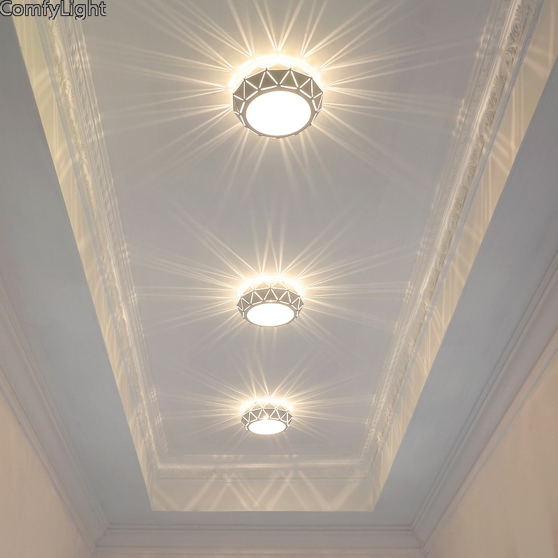Lámpara LED minimalista moderna de techo para salón, dormitorio, tienda de casa, oficina, lámpara blanca para iluminación de loft, lámpara para pasillo