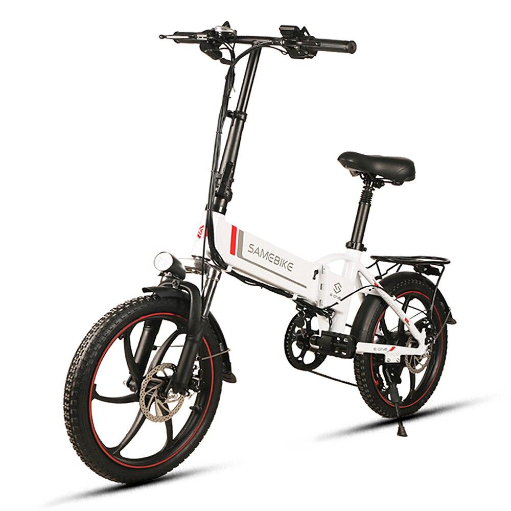 Bicicleta eléctrica plegable de 20 pulgadas, asistencia eléctrica, bicicleta eléctrica, escúter, Motor de 350W, borde unido