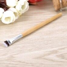 1PC bambou poignée sourcil brosse antiadhésive doux antifourchette visage maquillage brosse yeux maquillage multifonctionnel brosse
