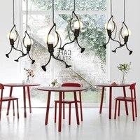 Lampe LED suspendue en fer au design creatif de dessin anime  Luminaire decoratif dinterieur  ideal pour une reception  un Restaurant ou la maison
