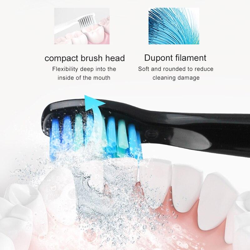 2021 Nieuwe  Elektrische Tandenborstel Oplaadbare  Sonische Tandenborstel 4 Modus Reizen Tandenborstel Met 2 Opzetborstels enlarge