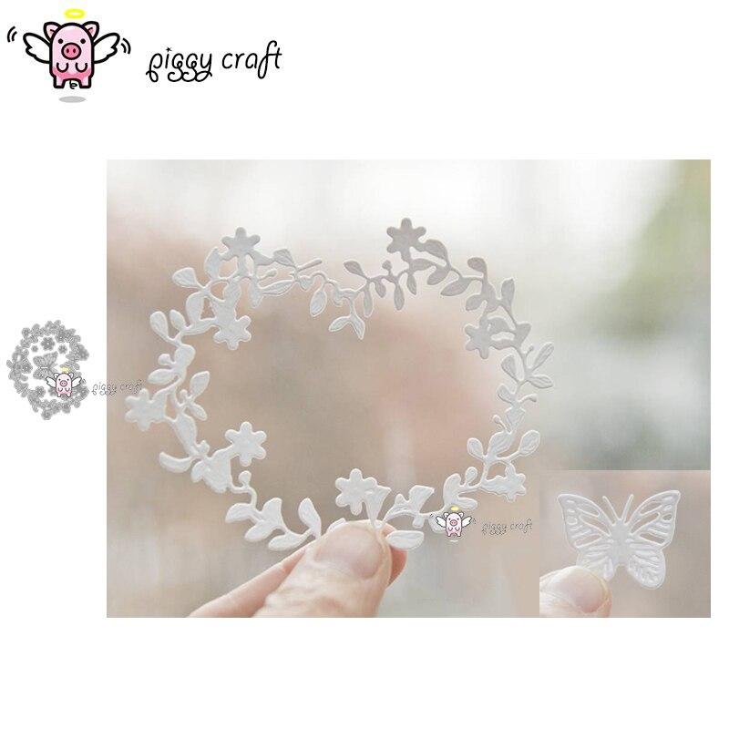 Hucha de corte de metal troquelado molde de mariposa flor hoja anillo álbum de recortes de papel artesanal cuchillo molde hoja perforadora plantillas