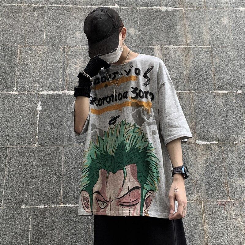 Anime One Piece Harajuku T Shirt for Men Women Streetwear Tshirt Summer Short Sleeve Ulzzang Korean Style Tee Tops Roronoa Zoro
