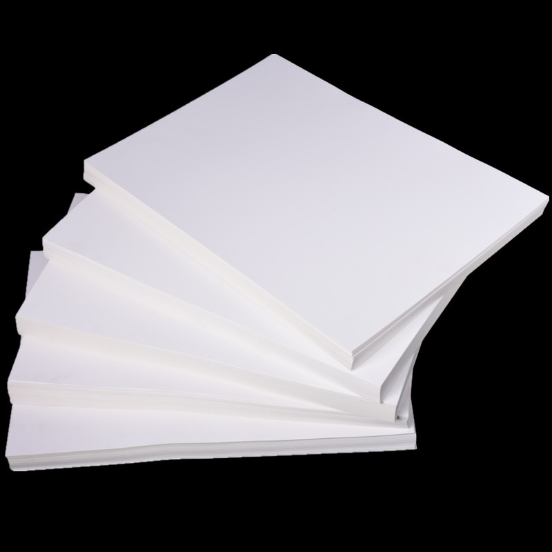 100 hojas de papel Kraft blanco A4 papel grueso hecho a mano 70-400gsm papel cortado Material de alta calidad niños hecho a mano cartulina